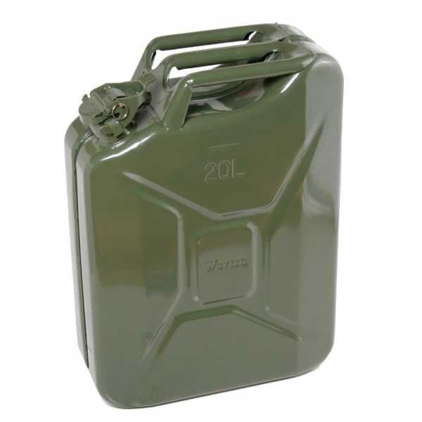 20 Liter 5 Gallon Olive Drab Steel Wavian Jerry Can W