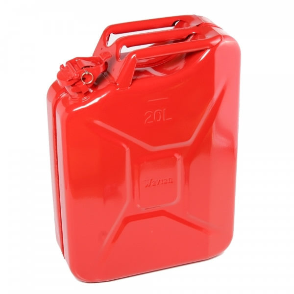 20 Liter 5 Gallon Red Steel Wavian Jerry Can W Spout