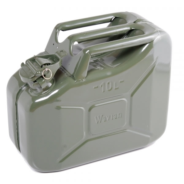 2 64 Gallon 10 Liter Olive Drab Steel Wavian Jerry Can