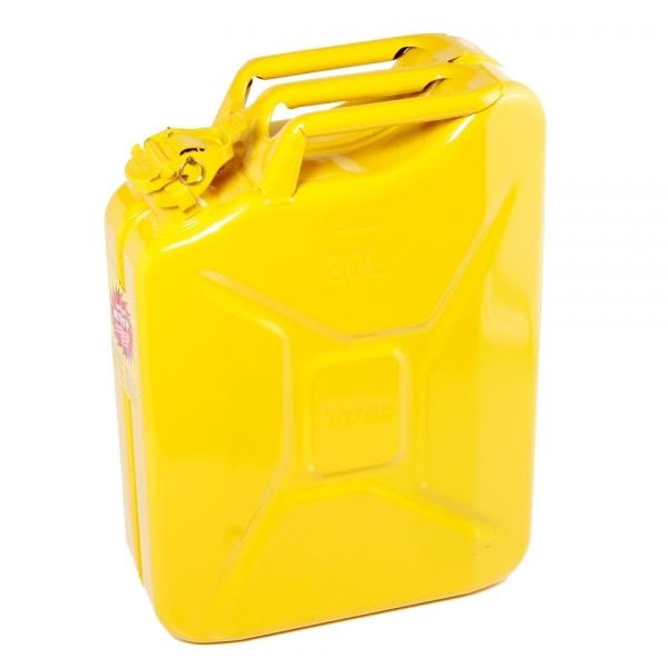 5 Gallon 20 Liter Yellow Steel Wavian Jerry Can Spout