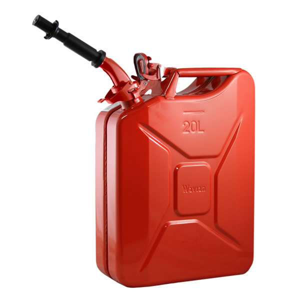 5 Gallon 20 Liter Red Steel Wavian Jerry Can Spout